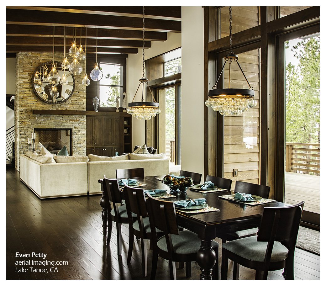 Attractive Tahoe Dining Room Commercial Photography: Lake Tahoe Dining Room