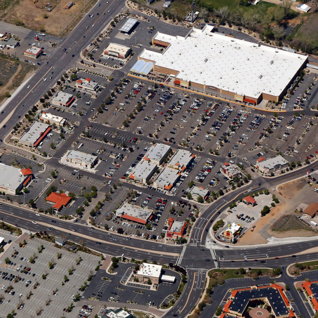 Retail Shopping Center Aerial in Nevada