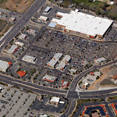 Shopping Center Aerial Photo