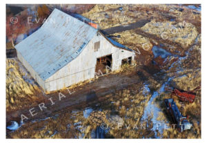 Old Barn Drone Aerial View