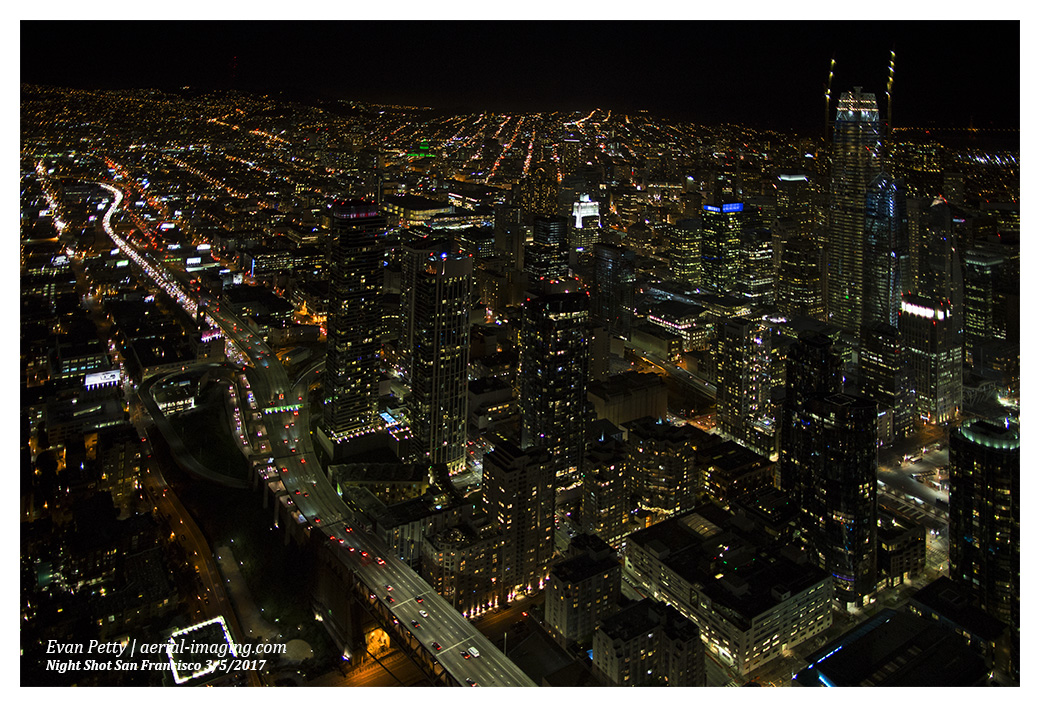 San Francisco Area Night Aerial Photography