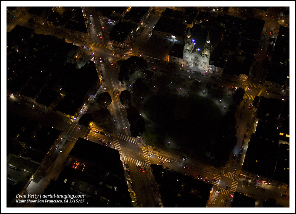 San Francisco Night Aerial Photography