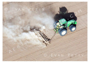 Desert Tractor Stirring Dust