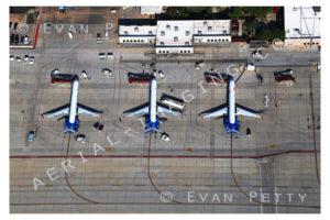 Airliners Parked At Jetway