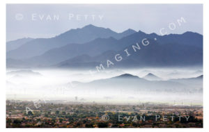 Fog & Mountains Aerial View