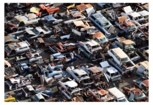 Wrecking Yard Aerial View