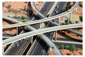Freeway Interchange Aerial Photo
