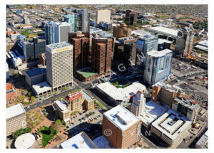 Aerial View Downtown Phoenix