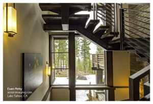 Tahoe Home Stairs Commercial Photography