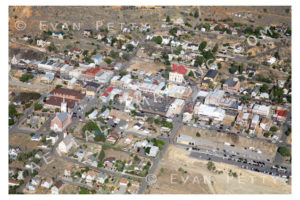 Virginia City in Nevada Aerial
