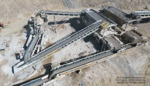 Drone Aerial View of Rock Crusher at the USA Parkway