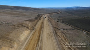 Aerial View of Grading the USA Parkway Highway in Nevada
