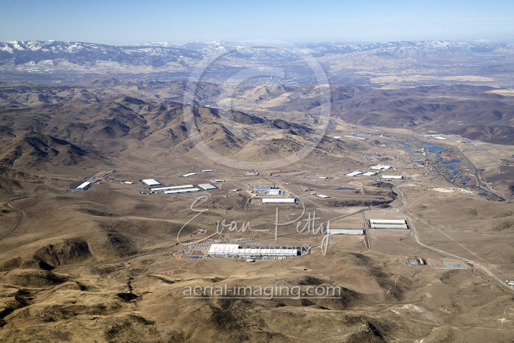 2018 Aerial view of Tahoe Reno Industrial Center with Reno in the background