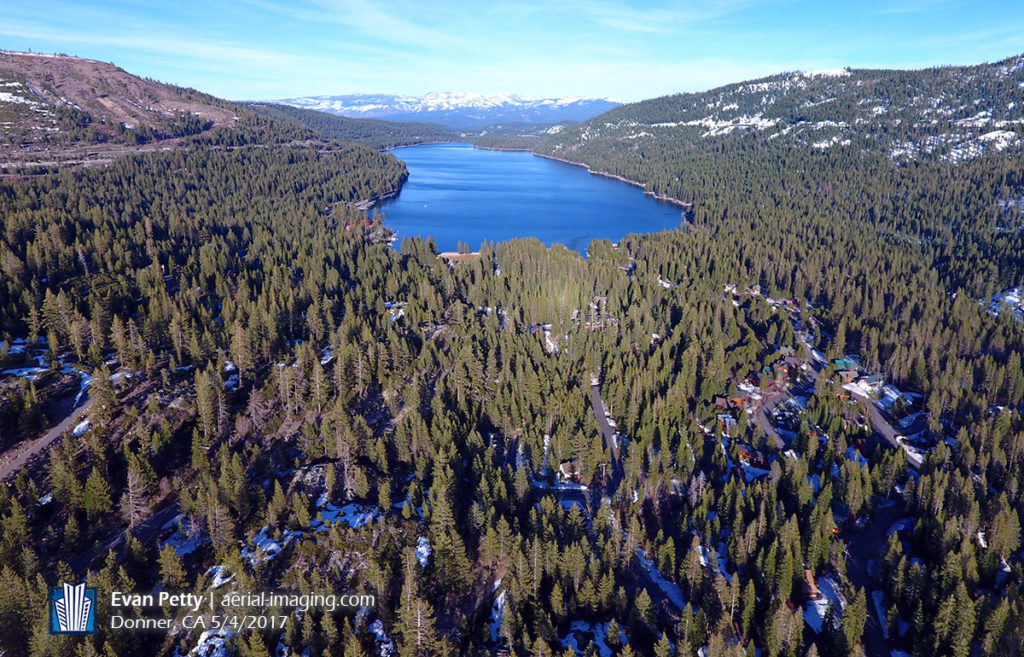 Aerial View of Donner Lake, CA