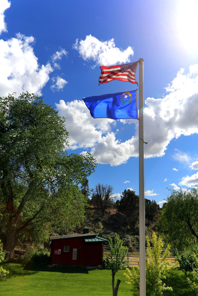 Flag on Rural Ranch Nevada Property