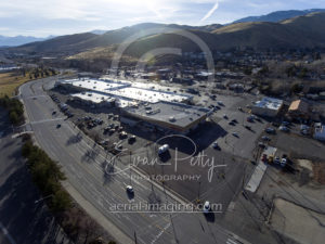 Drone View Retail Shopping Center