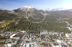 Downtown Mammoth Lakes California Aerial Photographer