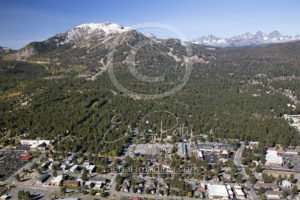 Downtown Mammoth Lakes Aerial Drone and Mammoth Mountain