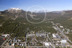 Downtown Mammoth Lakes Aerial Photography Drone