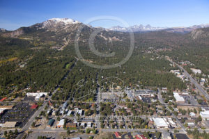 Downtown Mammoth CA Aerial Photography Drone