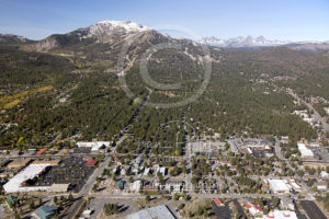 Downtown Mammoth Aerial Photography Drone