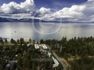 Beach Aerial View Lake Tahoe Drone Photographer