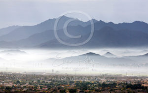 Aerial Photography of Fog in Arizona