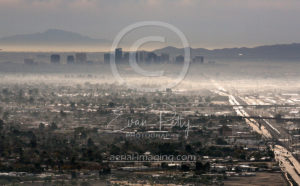 Aerial Photography of Fog Downtown Arizona