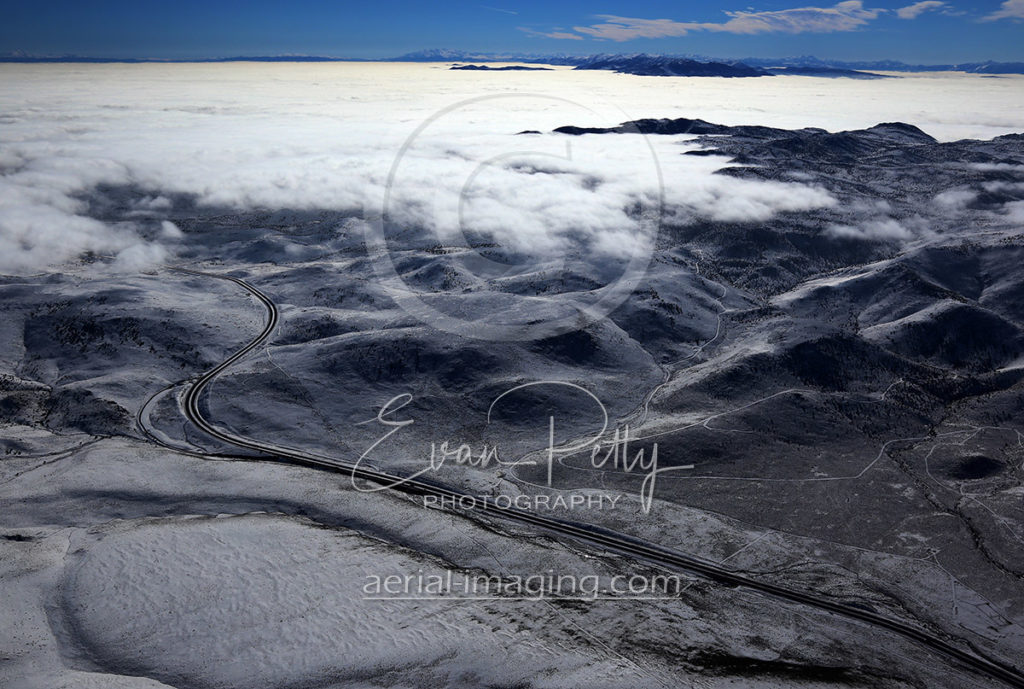 USA Parkway Clouds Aerial Image View in Northern Nevada