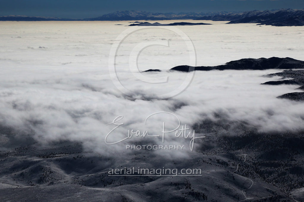 Aerial Image View of Clouds in Northern Nevada