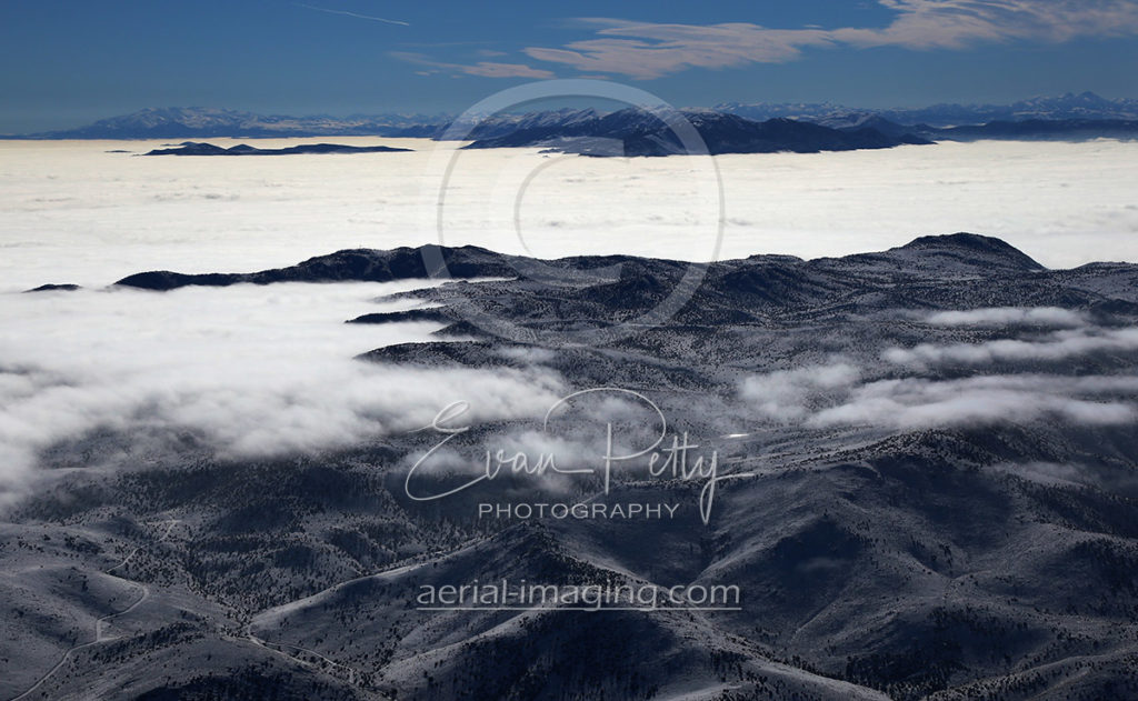 Aerial Photography View of Clouds in Northern Nevada