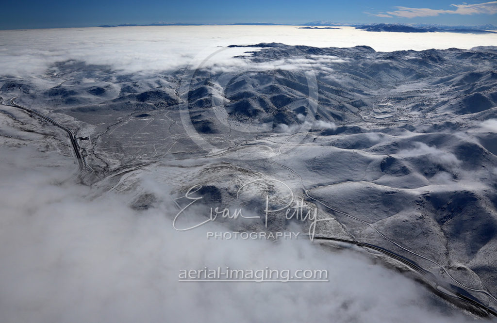 Aerial Image of Clouds in Nevada