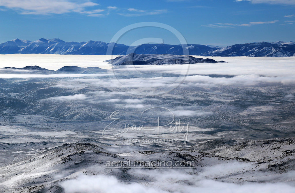 Aerial Airplane View Clouds Nevada