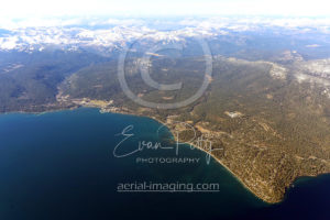 Tahoe City to Dollar Point Aerial