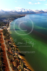 South Lake Tahoe Beach Aerial