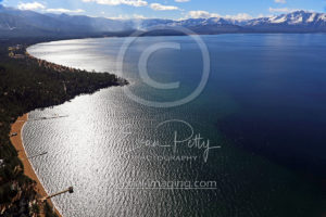 Aerial View Lake Tahoe Coastline Photography
