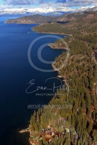 Lake Tahoe Coastline Aerial View