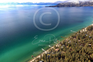 South Lake Tahoe Piers Aerial Photography