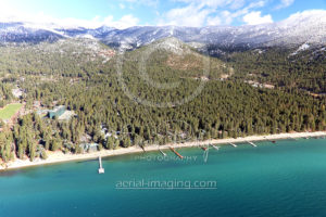 Lake Tahoe Beach Aerial Photography
