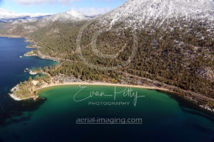 Sand Harbor Beach in Tahoe Aerial
