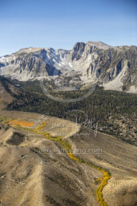 Aerial View Near Mammoth Lakes, CA