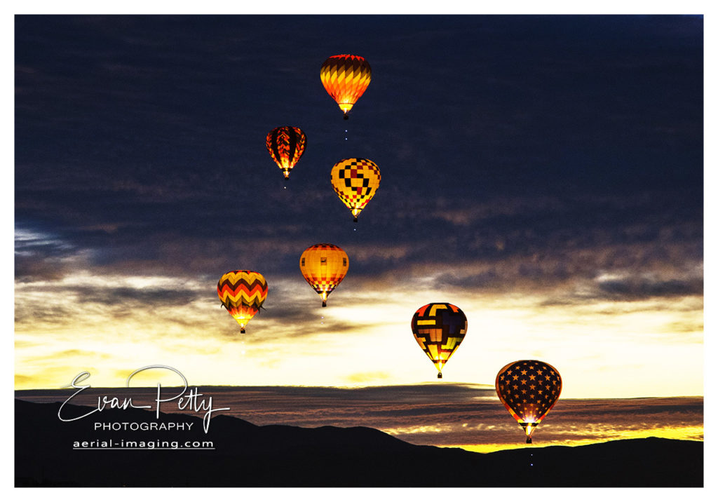 Airborne Balloons Before Sunrise Reno