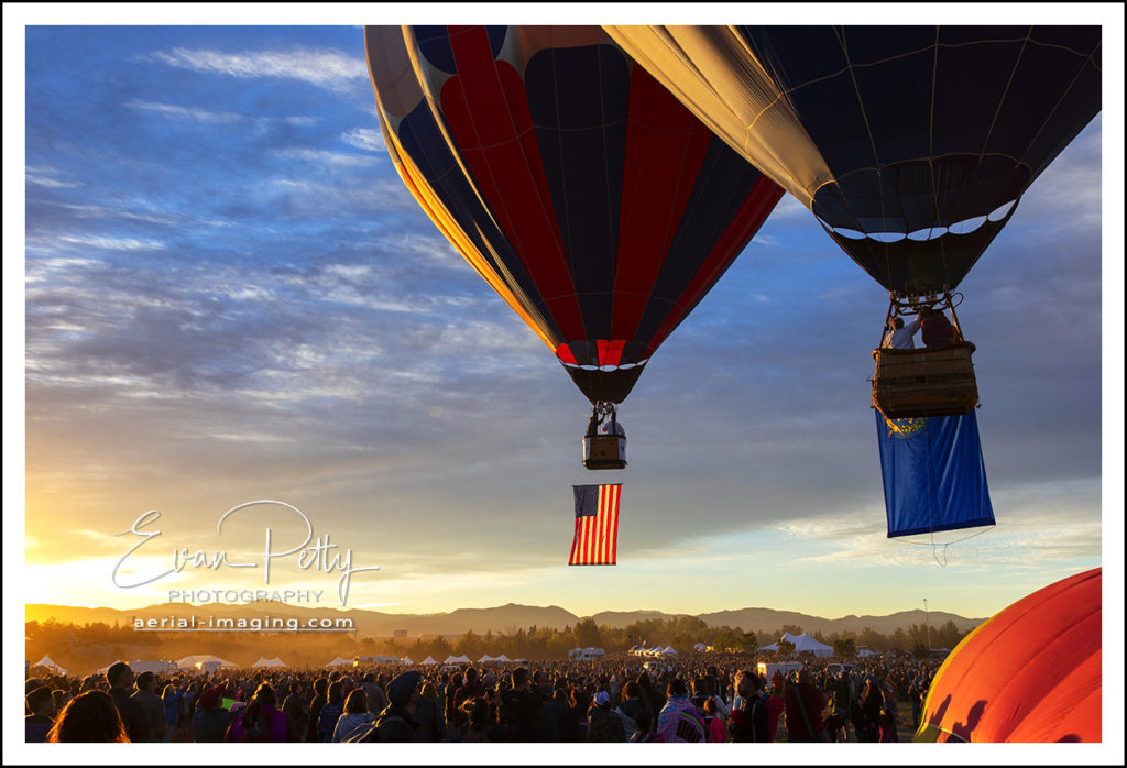US Flag Reno Balloon Race 2018