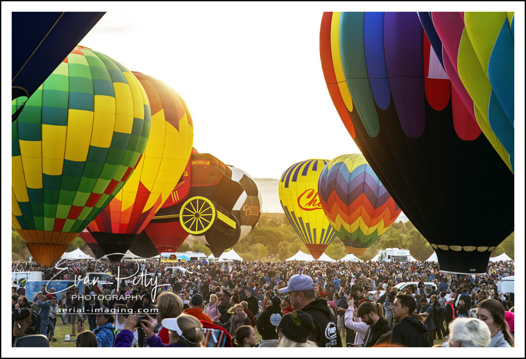 People and Balloon Reno Balloon Race 2018