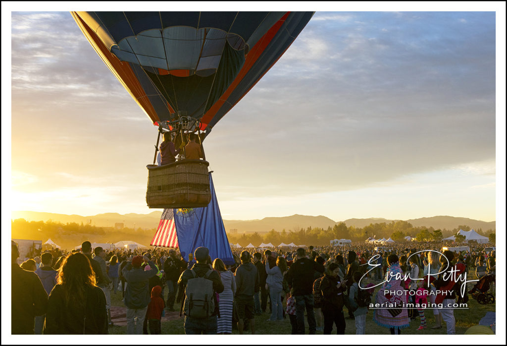 Balloon aloft Reno Balloon Race 2018 Photographer