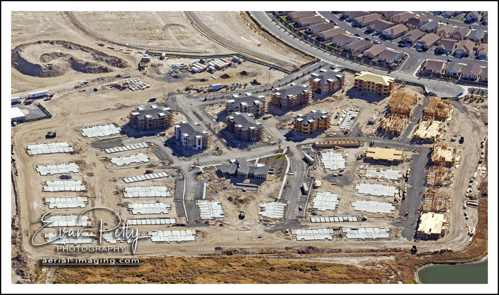 Aerial Photography Construction of Lumina in Spanish Springs in Nevada
