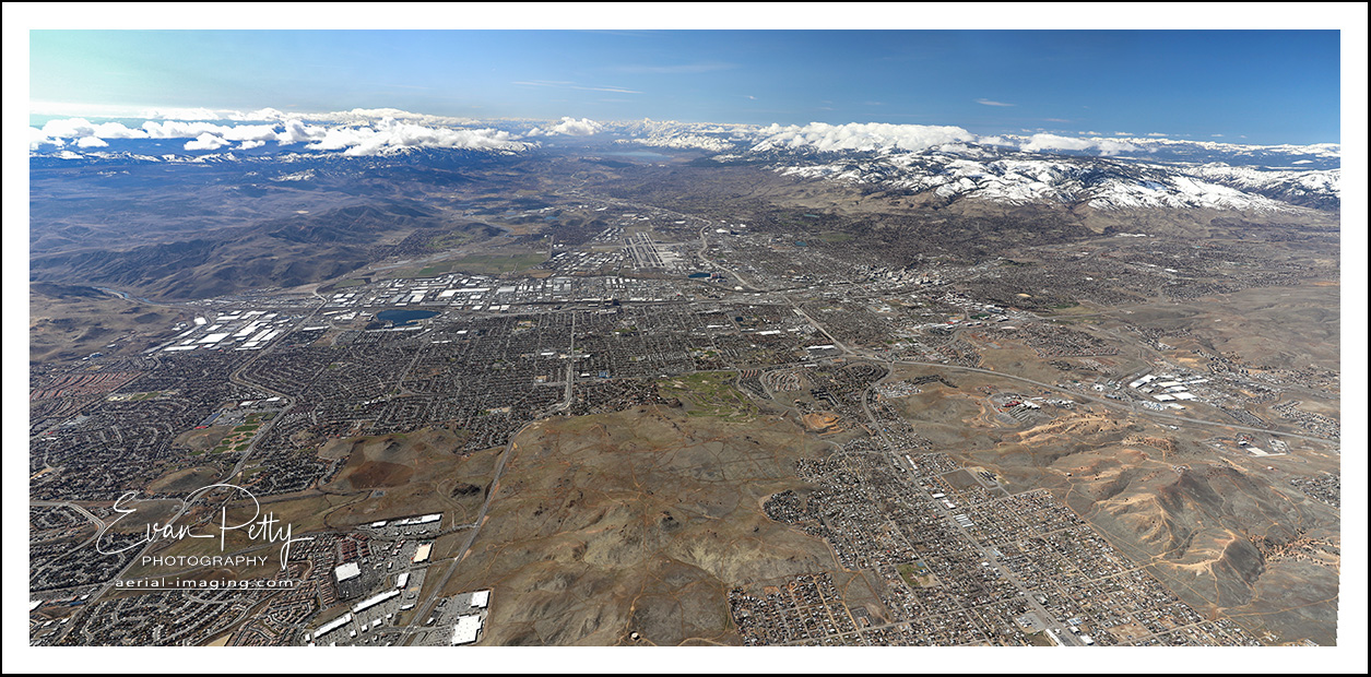 Reno Sparks Aerial Panoramic View 2019