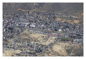 Virginia City, Nevada aerial image photograph print view