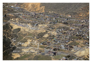 Downtown Virginia City, Nevada aerial image photograph print view