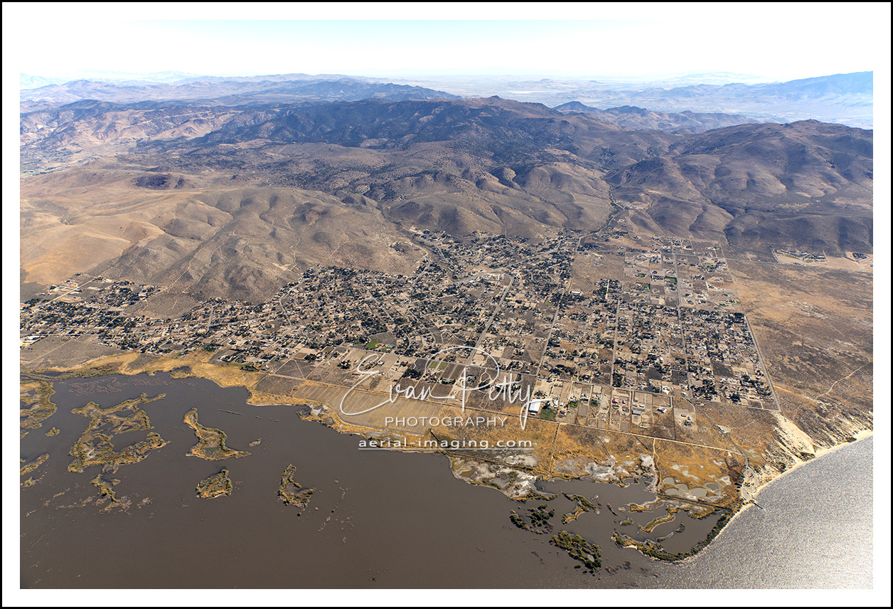 aerial of washoe city nevada